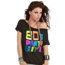 80's Party Girl Ladies Paradise T-Shirt